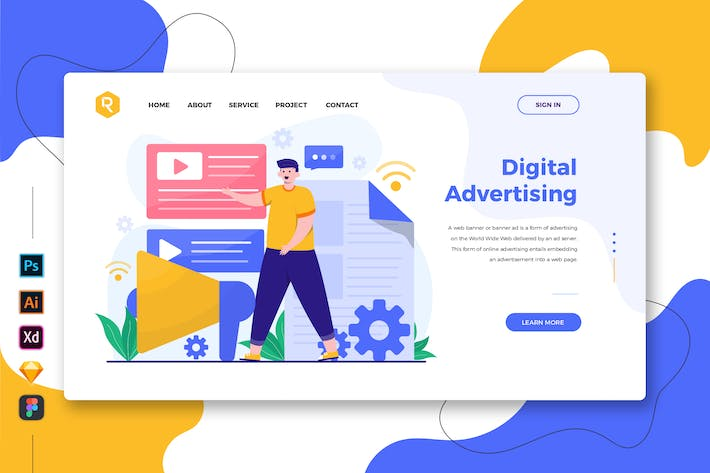 Thumbnail for Цифровая реклама - Web-& Mobile Landing Page