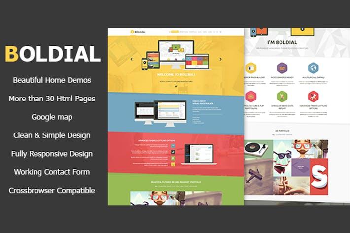 Thumbnail for Boldial HTML - Flat Creative Theme