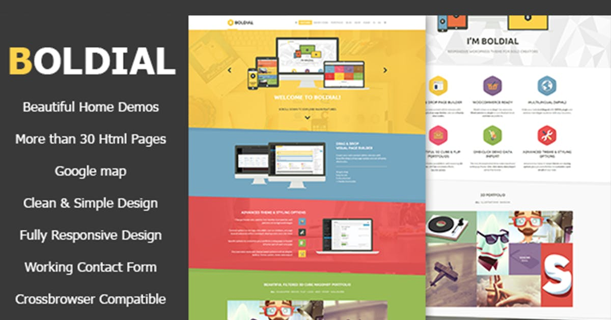 Download Boldial HTML - Flat Creative Theme by max-themes