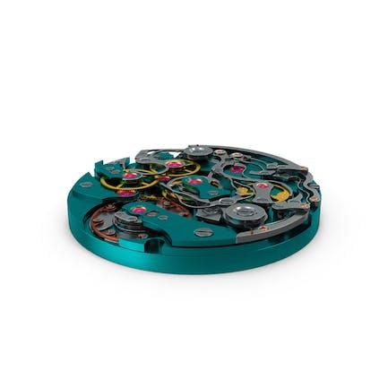 Mecanismo de reloj azul