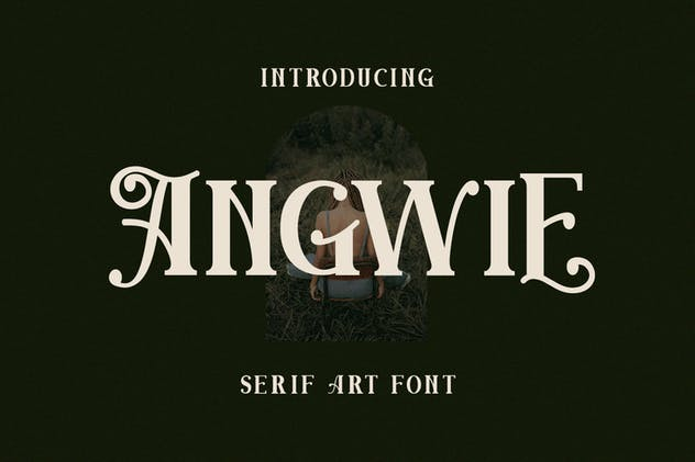 Angwie Serif Art Font - product preview 9