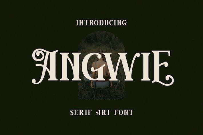 Fuente de arte Angwie Con serifa