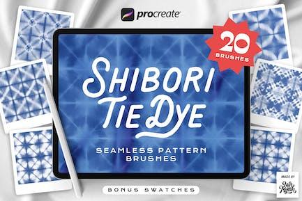 Procreate Tie Dye Shibori - Pinceles sin costuras