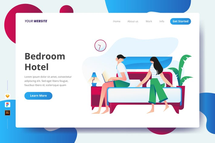 Thumbnail for Bedroom Hotel - Landing Page