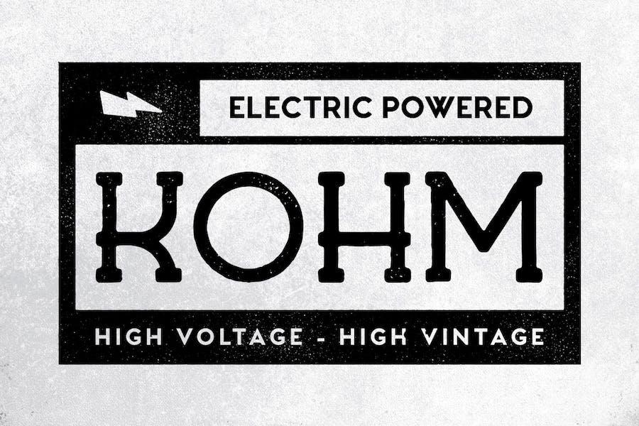 Kohm - Vintage Font