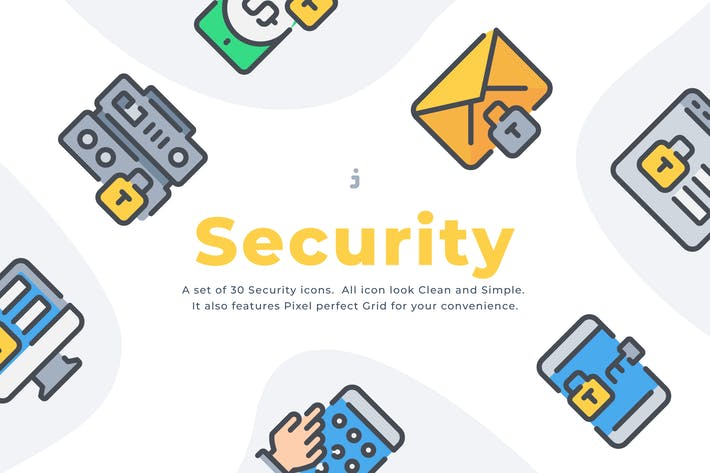 Thumbnail for 30 Security icon set