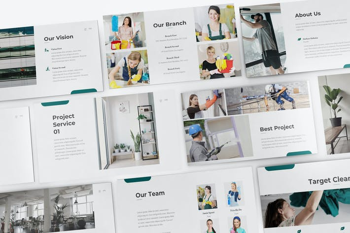 Cover Image For Cleaning Service Google Slides Template