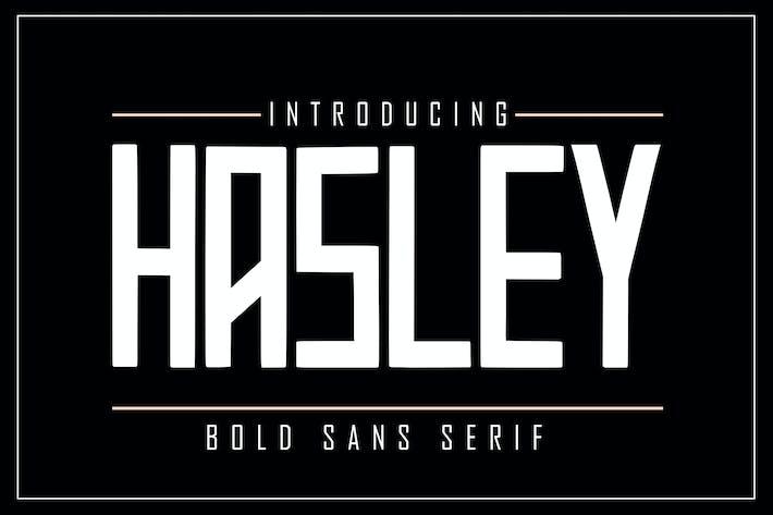 Thumbnail for HASLEY Bold Sans Serif