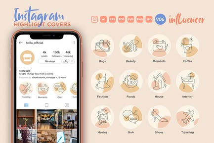 Instagram Highlight Icon V06 Social Influencer