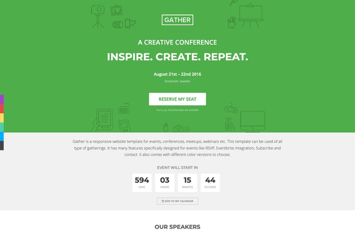 Gather - Event & Conference Landing Page WP Theme