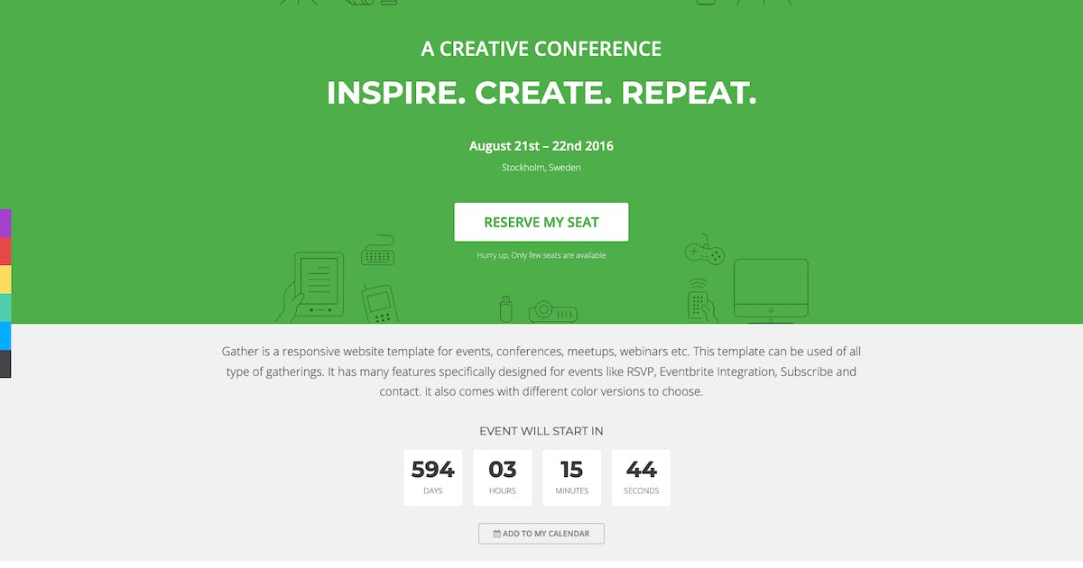 Download Gather - Event & Conference Landing Page WP Theme by cththemes