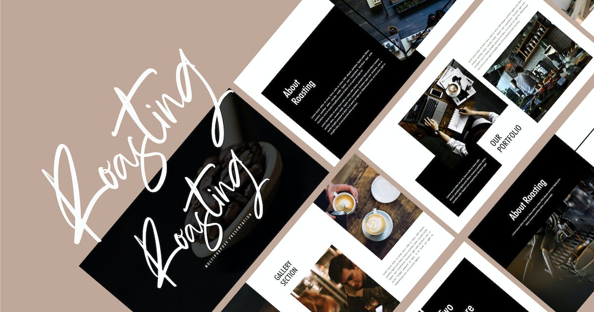 Download Roasting - Food & Drink Powerpoint Template by putra_khan