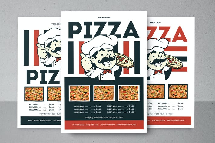 Thumbnail for Pizza Menu Flyer
