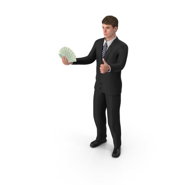 Thumbnail for Businessman John Holding Cash