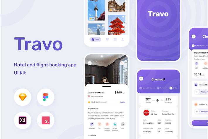 Thumbnail for Travo - Travel Apps Ui Kit