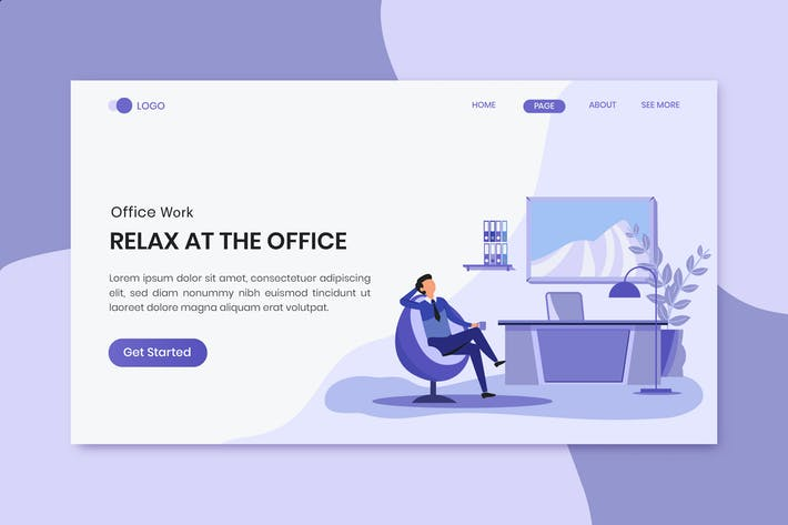 Relax At The Office Worker Landing Page