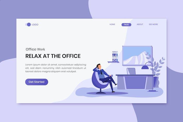 Thumbnail for Page de destination Relaxez-vous à l'employé de bureau