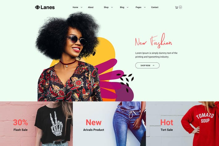 Thumbnail for Lanes - eCommerce Bootstrap 4 Template