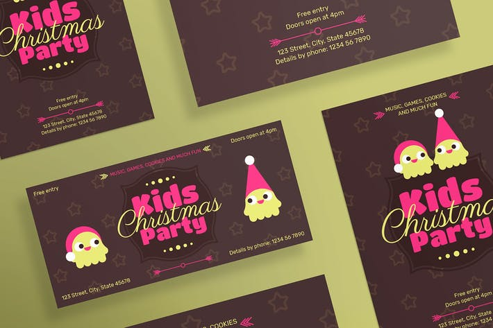 Thumbnail for Kids Christmas Party Flyer and Poster Template
