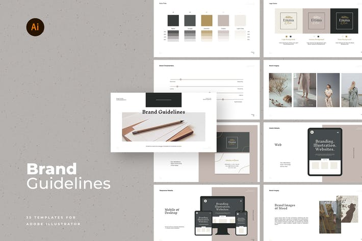 Vector Brand Guideline Templates
