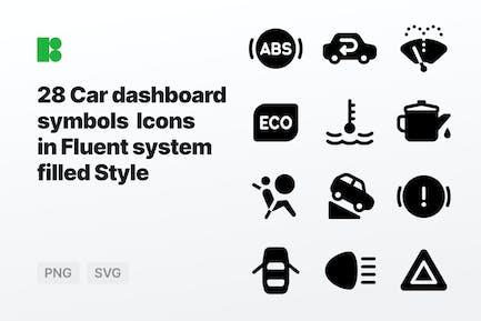 Fluent system filled - Car dashboard symbols
