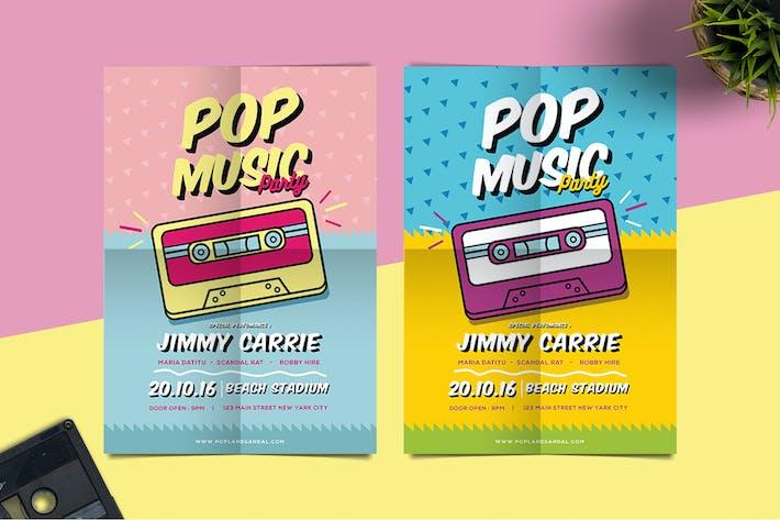 Thumbnail for Pop Music Flyer