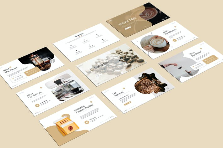Thumbnail for Kalin - Coffee Shop Powerpoint Template