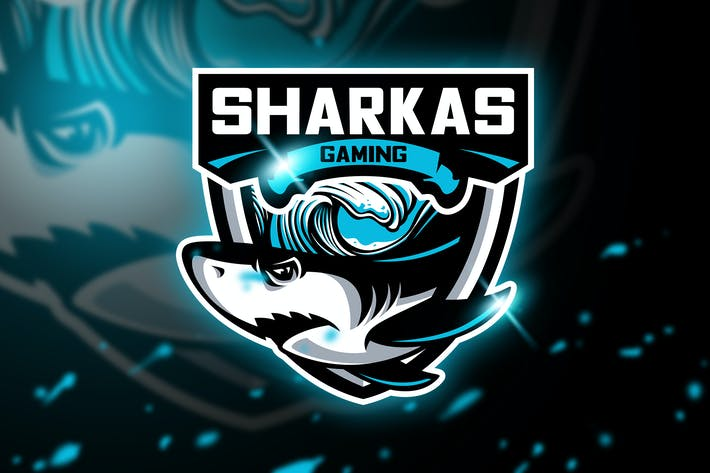 Cover Image For Sharkas Gaming - Mascot & Esport logo