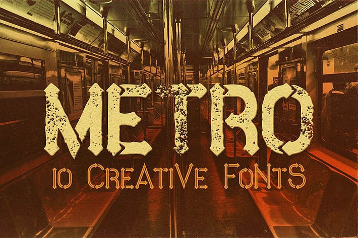 Thumbnail for Metro - 10 Fonts Family