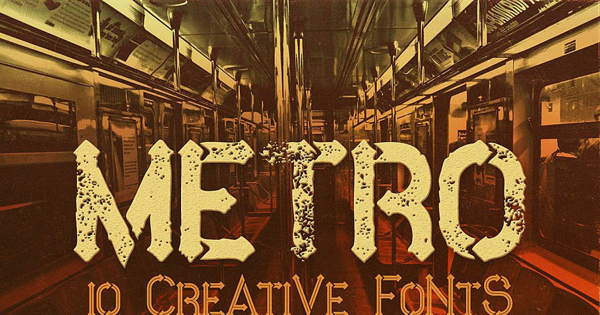 Download Metro - 10 Fonts Family by cruzine