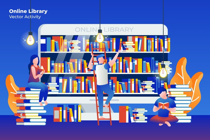 Thumbnail for Online Library - Vector Illustration