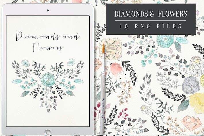 Cover Image For Diamonds and Flowers