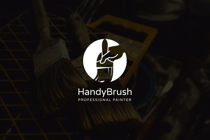Thumbnail for HandyBrush : Negative Space Paint Service Logo