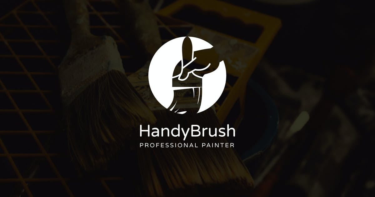 Download HandyBrush : Negative Space Paint Service Logo by punkl