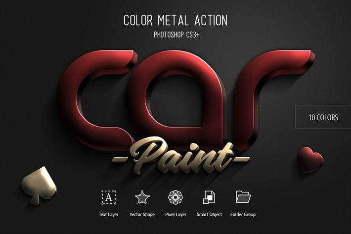 Thumbnail for Couleur Métal - Photoshop Action