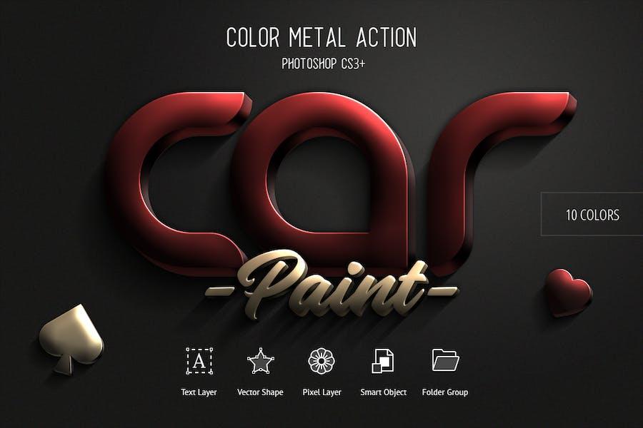 Color Metal - Photoshop Action