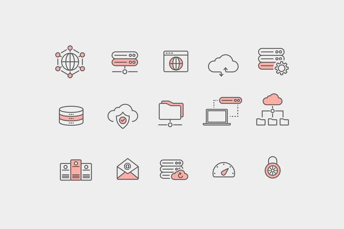 Thumbnail for 15 Web Hosting Icons