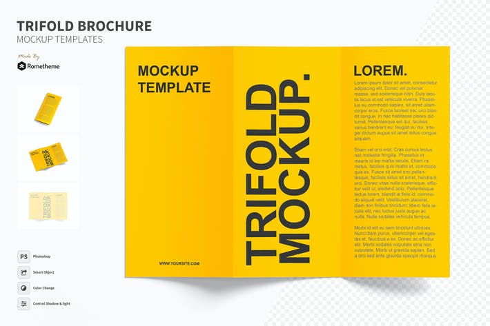 Thumbnail for Trifold - Brochure Mockup Set FH