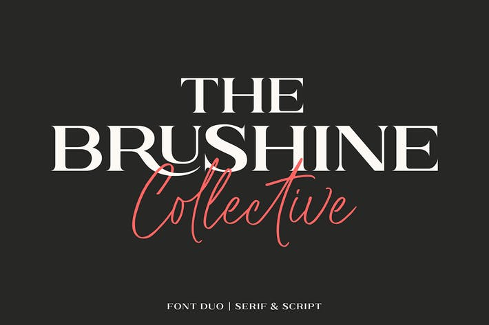 Thumbnail for Brushine Collective Font Duo