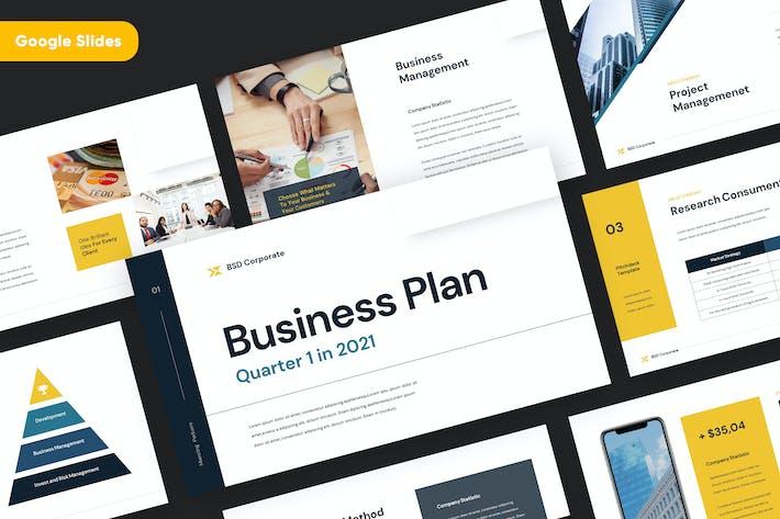 Thumbnail for Бизнес-план Google SlidesTemplate