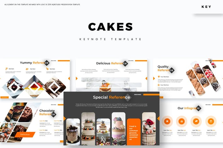 Thumbnail for Cakes - Keynote Template