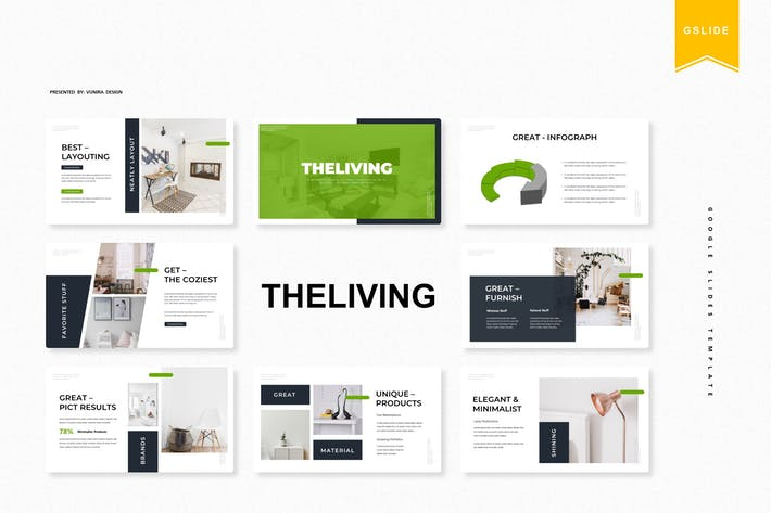 Thumbnail for The Living | Google Slides Template
