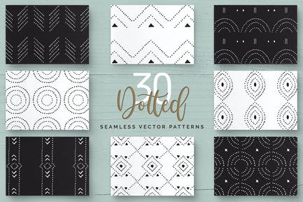 Dotted Vector Patterns & Tiles