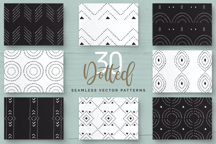 Thumbnail for Dotted Vector Patterns & Tiles