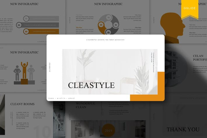 Thumbnail for Cleastyle | Google Slides Template