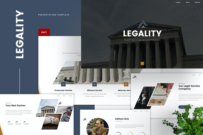 Thumbnail for Legal Service PowerPoint Template