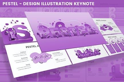 PESTEL - Design Illustration for Keynote