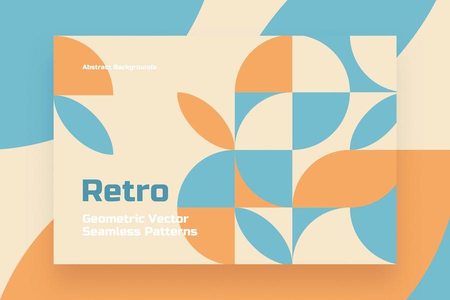 Retro Geometric Seamless Patterns