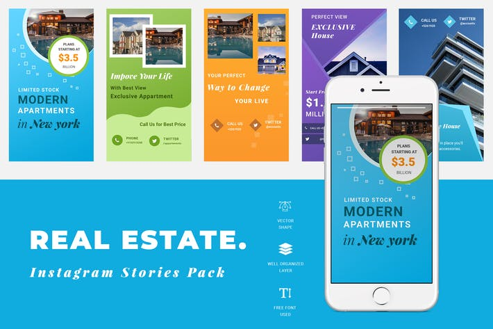 Real Estate Instagram Story Templates