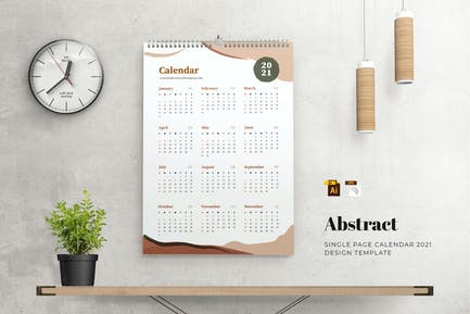 Abstrakter Kalender